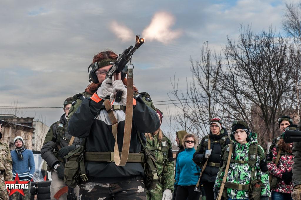 Стрельба из фаертагового АКМ на КМБ