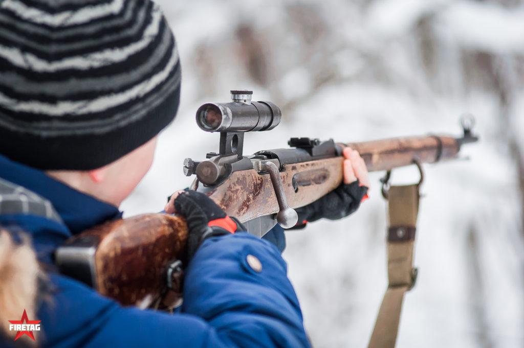 Тир с охолощеной винтовкой Мосина в парке Сокольники
