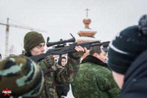 Юнармеец со снайперской винтовкой