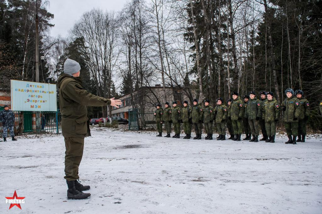 Построение студентов военной кафедры МЭИ