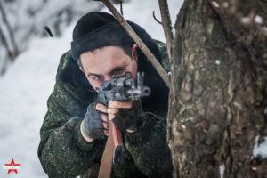 Тир с охолощенным АК-74 в парке Сокольники