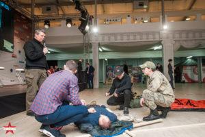 Элементы тактической медицины на выставке Выстрел